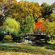 Autumn At Lafayette Park Bridge Square Art Print