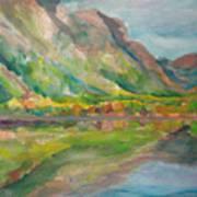 Autumn At Lake Mcdonald In Glacier National Park Art Print