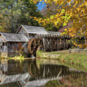 Autumn At Mabry Mill Art Print