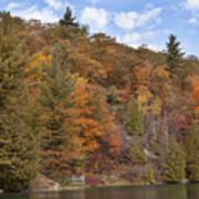 Autumn At Pink Lake Art Print
