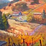Autumn At Silvan Ridge Art Print