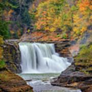 Autumn At The Lower Falls Print by Rick Berk