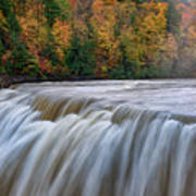 Autumn At The Middle Falls  Art Print