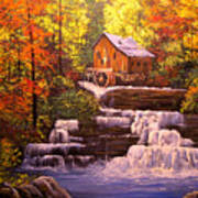 Autumn At The Mill Art Print