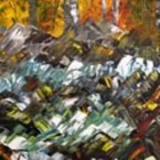 Autumn At The River Art Print