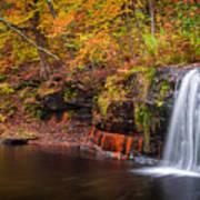 Autumn At Wolf Creek Falls Art Print