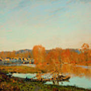 Autumn Banks Of The Seine Near Bougival Art Print