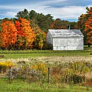 Autumn Barn Art Print