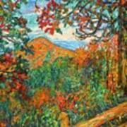 Autumn Beauty From Sharp Top Art Print