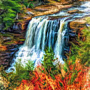 Autumn Blackwater Falls - Paint 3 Art Print