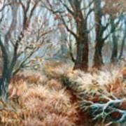 Autumn Brush Art Print