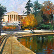 Autumn By Delaware Lake Art Print
