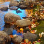 Autumn By The Creek Art Print