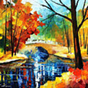 Autumn Calm 2 - Palette Knife Oil Painting On Canvas By Leonid Afremov Art Print