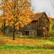 Autumn Catskill Barn Art Print