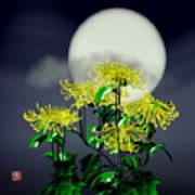 Autumn Chrysanthemums Art Print by GuoJun Pan