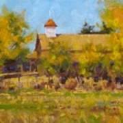 Autumn Church Taos Art Print