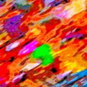 Autumn Color Blurs 144 Art Print