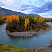 Autumn Colors Along Tanzilla River In Northern British Columbia Art Print
