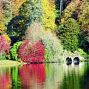Autumn Colours By The Lake Art Print