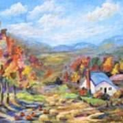 Autumn Cottage Art Print