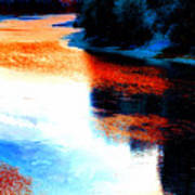 Autumn Down By The River Art Print