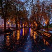 Promenade In Odessa Art Print