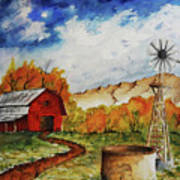 Autumn Farm Art Print