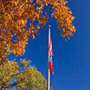 Autumn Flag Art Print