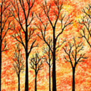 Autumn Forest Abstract  Art Print