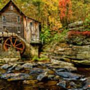 Autumn Glade Creek Grist Mill  Art Print