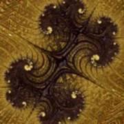 Autumn Glows In Gold Art Print