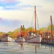 Autumn Harbor Art Print