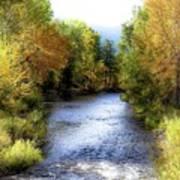 Autumn Harvest Along The River Art Print