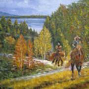 Autumn In Big Bear, 18x24, Oil, '08 Art Print