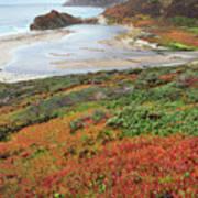 Autumn In Big Sur California Art Print by Pierre Leclerc Photography