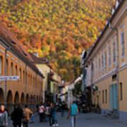 Autumn In Brasov Art Print