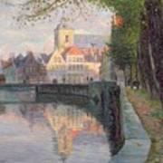Autumn In Bruges Art Print