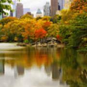 Autumn In Central Park Art Print