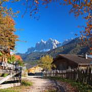 Autumn In South Tyrol Art Print