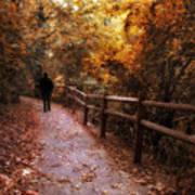 Autumn In Stride Art Print