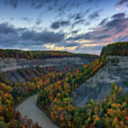 Autumn In The Gorge Art Print