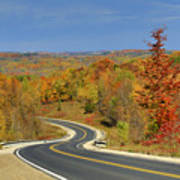 Autumn In The Hockley Valley Art Print
