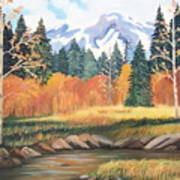 Autumn In The Mountans Art Print