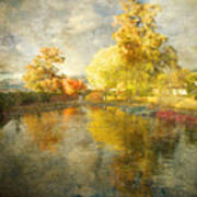 Autumn In The Pond Art Print