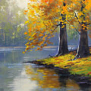Autumn Lake Print Art Print