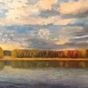 Autumn. Lake. Art Print