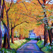 Autumn Lane Art Print by David Lloyd Glover