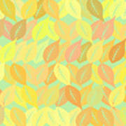 Autumn Leaves Pattern Art Print