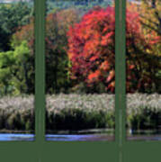 Autumn Marsh Through A Window Art Print